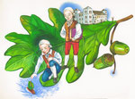 """lllustration für das Buch """"Die Humboldts"""", Kunde: Berlin Story Verlag"""