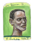 Creole von La Réunion, 12X18cm, Artist Pen, Buntstift auf  Papier