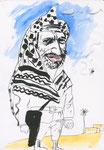 Yasir Arafat, 8 1/2x 11 1/2  (22x29cm)