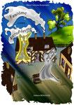 Couverture réalisée par Cloé Perrotin du livre jeunesse Fantôme contre Ectoplasme écrit par Marie-Françoise Bongiovanni aux Editions BENJULICE