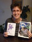 Marie-Françoise Bongiovanni des Editions BENJULICE présente la couverture réalisée par Cloé Perrotin du livre jeunesse Fantôme contre Ectoplasme