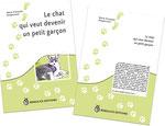 Cloé Perrotin réalise la couverture du livre Le chat qui veut devenir un petit garçon paru chez BENJULİCE Éditions lors de sa réédition