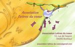 """Cartes de visite réalisées > pour une association - Demande client : illustration """"en tradi"""" , couleurs vives, floral - Technique : numérique sous Photoshop _ Cloé Perrotin"""