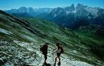 Die Ampezzaner Dolomiten vom Steig auf den Duerrenstein