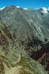 Gut angelegter Bergpfad, der Trittsicherheit und etwsas Schwindelfreiheit verlangt