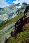 Die Blümlisalp von einem Standort oberhalb der Doldenhornhütte