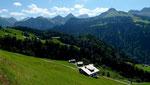 Großes Walsertal vom Weg zum Seewaldsee