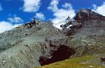Krummer Stein und Doldenhorngletscher gegen Gipfel