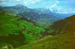 Blick von der Bergstation Engstligenalp ins Adelbodener Tal