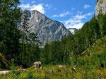 Reichenstein-Südwand und Bachwand von Schachen