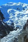 Die 1200 Meter hohe Balmhorn-Nordwand vom Jegertosse