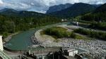 Staustufe der Bregenzerache und E-Werk in Bezau-Wilbinger