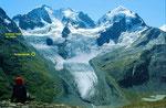 Tschiervagletscher und Hütte, Hüttensteig und erreichte Höhe