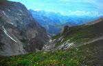 Auf dem Ammertenpass Blick auf die Wildhorngruppe