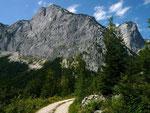 Reichenstein Südwand vom Weg zur Schwaiberalm