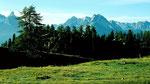 Aufstieg von Ftan ins Gebiet der Alp Clünas