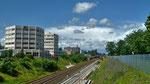 Bahnlinie Fürth-Erlangen von der Eisenbahnüberführung Hardstraße