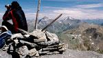 Gipfelrast am Piz Minschun