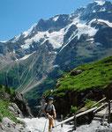 Mittaghorn und Großhorn mit eingelagerten Gletschern