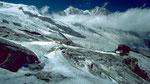 Feegletscher-Panorama mit Bergstation Felskinn