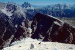 Sextener Dolomiten mit den Drei Zinnen vom Duerrensteingipfel