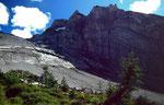 Der Fisistock vom ehemaligen Bergsturzgebiet bei der Doldenhornhütte.