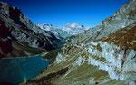 Die ehemalige Gletscherzunge des Blümlisalpgletschers