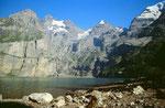 Blümlisalp - Oeschinenhorn - Fründenhorn und Doldenhorn über dem Oeschinensee