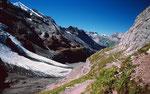 Doldenhorn und Wildstrubel über der Wanne des Blümlisalpgletschers