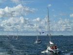 Überfahrt mit dem Linienschiff von Schaprode zur Insel Hiddensee