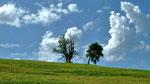 Wolkenstimmung am Hoehenruecken oberhalb Feichtbauer