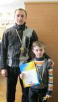 Переможці змагань (Войналович Ілля з татом)