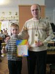 Переможці змагань (Радченко Богдан з татом)