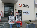 Vor dem Fritztlaer jobcenter