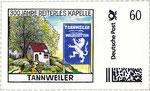 Briefmarke 300 Jahre Reiterles Kapelle Tannweiler