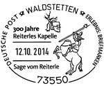 Sonderstempel 300 Jahre Reiterles Kapelle