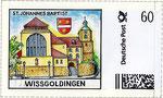 Briefmarke St. Johannes Baptist Wissgoldingen