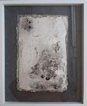 Intonaco auf Seidelbastpaper ca. 40x30, 2019, schwebend gerahmt