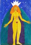 Sternenkönigin, Aquarell, 1995, DIN A 4
