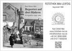 Werbepostkarte mit Bildband zum 100. Geburtstag von Karl Heinz Mai (1920-1964). Alle fotografischen Nutzungen auf einen Blick auf der Rückseite.