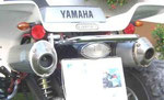 Leo Vince an einer Yamaha Warrior