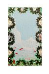 Paysage d'hiver (Acrylique sur plaque de bois n2 - côté verso - 40 X 26 )