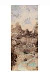 Chinoiserie (Gouache sur toile -  51 x 21 )