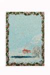 En hiver  (Acrylique sur plaque de bois n3 - côté verso - 17 x 12 )