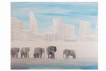 L'exil du troupeau (Acrylique sur toile - 115 x 89 )
