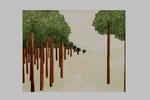 Perspectives à l'horizon (Acrylique sur toile - 40 x 50)