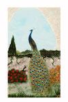 Paon ( Acrylique sur toile - 24 x 19 )