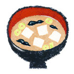 食品イラスト/味噌汁