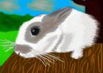 Hoppel von Zwergchen - mit GIMP gezeichnet