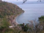 Noch weiter oben gibt es eine schöne Aussicht auf die Bucht